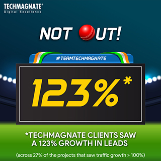 Techmagnate clients saw a 123% growth in leads
