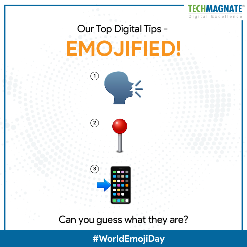 Our Top Digital Tips - Emojified! Can you guess what they are? #WorldEmojiDay